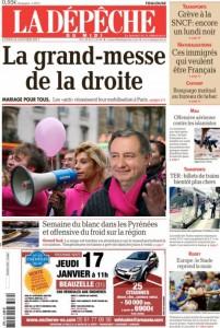 Tous dans la rue avec Frigide et Jean-Luc  ladepechedumidi-cover-201x300